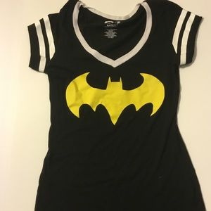 Women's black and yellow batman shirt